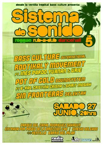 Sistema de Sonido Vol. 5 - 27 Junio reggae al airelibre en la Ventilla tropikal. Sistema-de-soniodo-vol5-lo